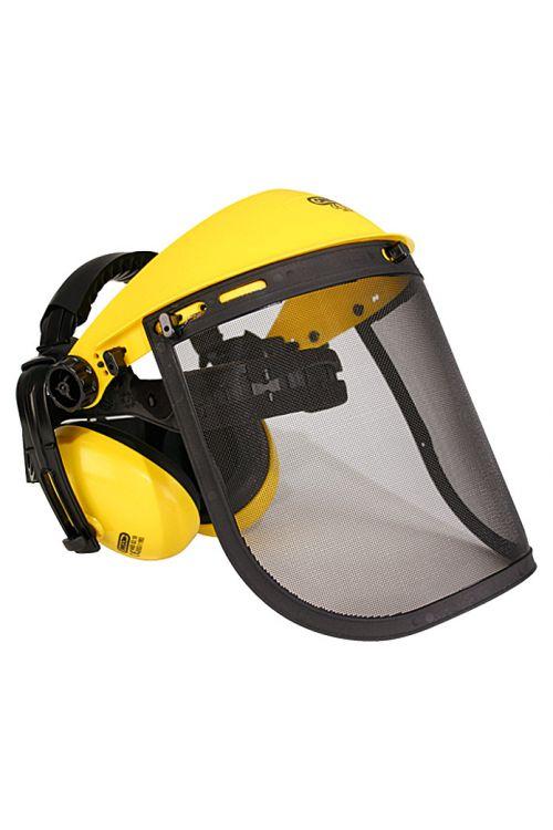 Čelada z zaščito za obraz in glušniki Oregon (rumena)