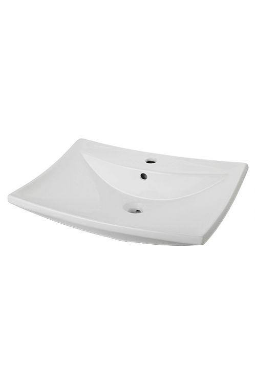 Nasadni umivalnik Camargue Sharki (61,5 x 45 cm, keramični, bel)