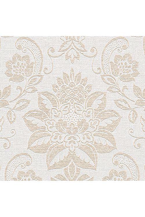 Tapeta iz netkane tekstilije Shabby Style (bež/kremasta/kovinska, barok, 10,05 x 0,53 m)