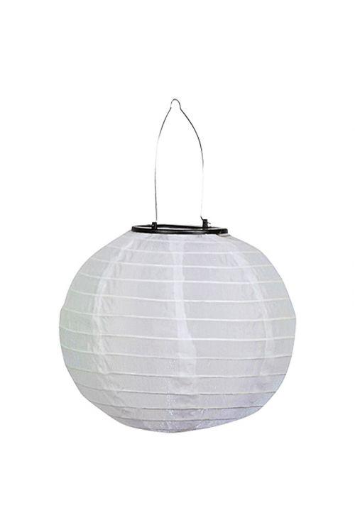 Solarna svetilka v obliki lampijona BAUHAUS (bela, čas delovanja 8 h)