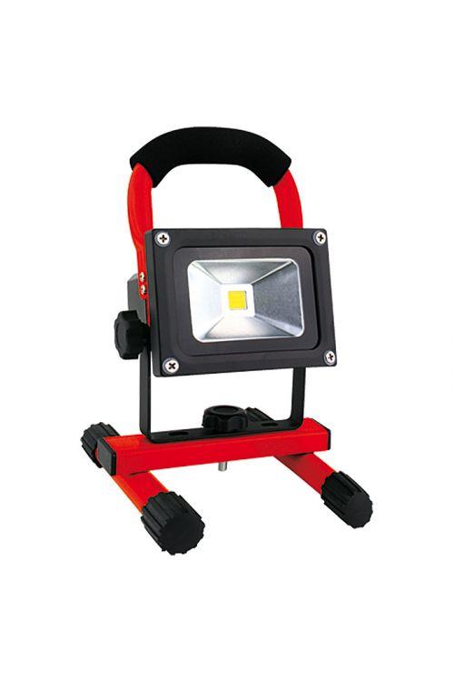 Akumulatorski LED-reflektor (10 W, rdeč, IP65, dnevna bela svetloba, 7,4 V li-ion/4,4 Ah, energetski razred: A)