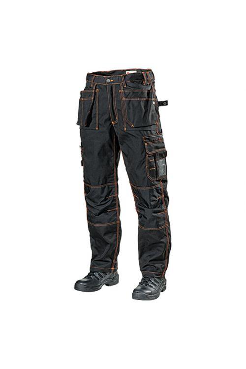 Delovne hlače L.Brador 161 PB (črno-oranžne, velikost: 48)