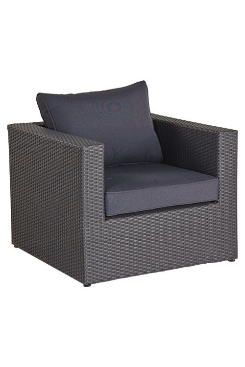 Lounge stol Sunfun Loft Neila (srebrno sive barve, PE-pletivo)