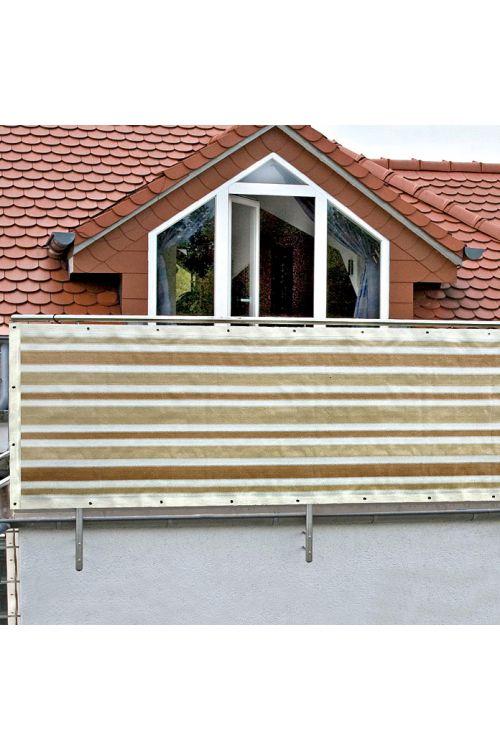 Balkonska zastirka Gardol (bež/bele barve, 5 x 0,9 m)
