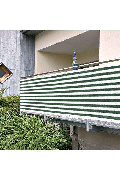 Balkonska zastirka Gardol (zelene/bele barve, 5 x 0,9 m)