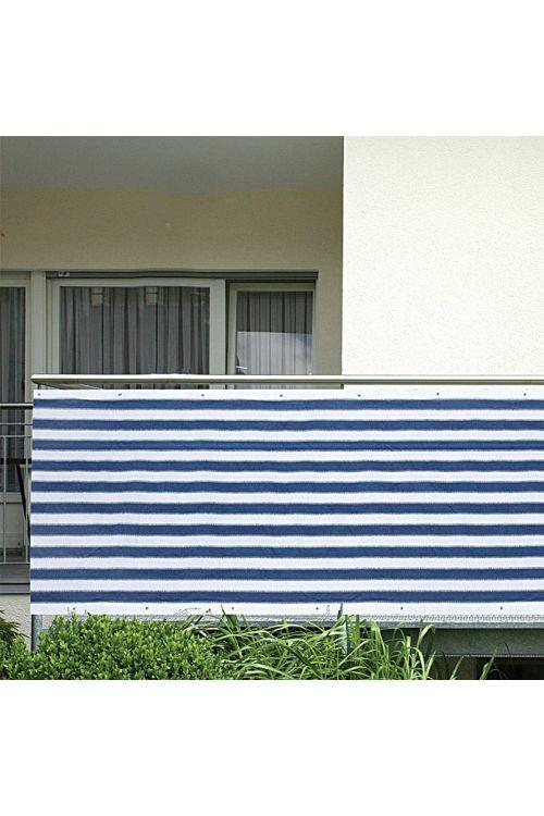 Balkonska zastirka Gardol (modre/bele barve, 5 x 0,9 m)
