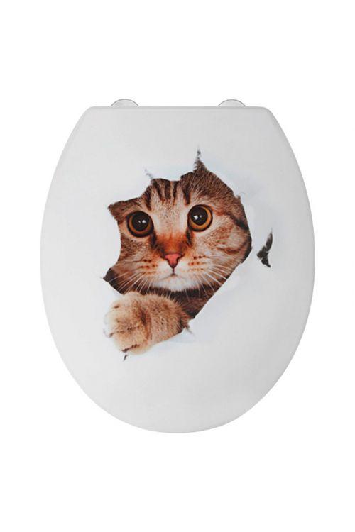WC deska POSEIDON Kittycat (duroplast, počasno spuščanje, bela)