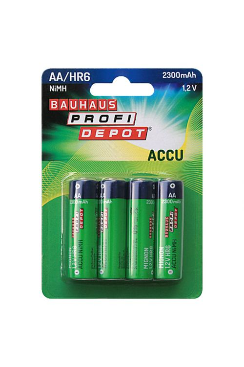 Akumulatorska baterija Profi Depot (Mignon AA, Nikelj-kovinsko-hibridna, 1,2 V, 4 kosov)