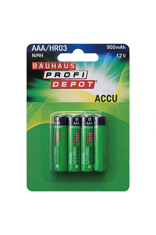 Polnilne baterije Profi Depot (Micro AAA, NiMH, 1,2 V, 4 kosi)