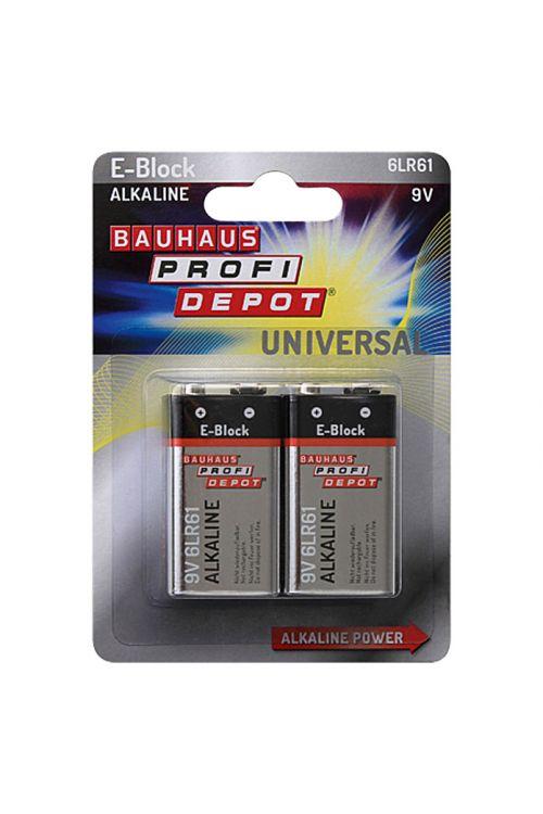 Baterija Profi Depot (9 V Block, alkalno-manganova, 9 V, 2 kosa)