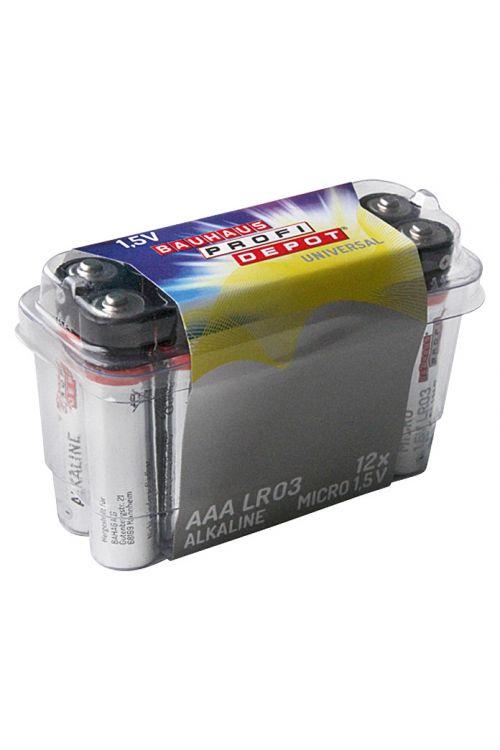 Baterija Profi Depot (Micro AAA, alkalno-manganova, 1,5 V, 12 kosov)