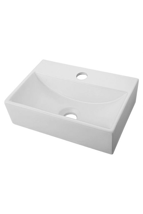 Umivalnik Camargue Levanzo (27,5 x 37 x 11 cm, keramični, beli)