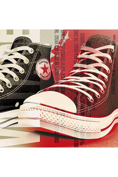 Dekorativni element (Vintage Sneakers, 40 x 40 cm)