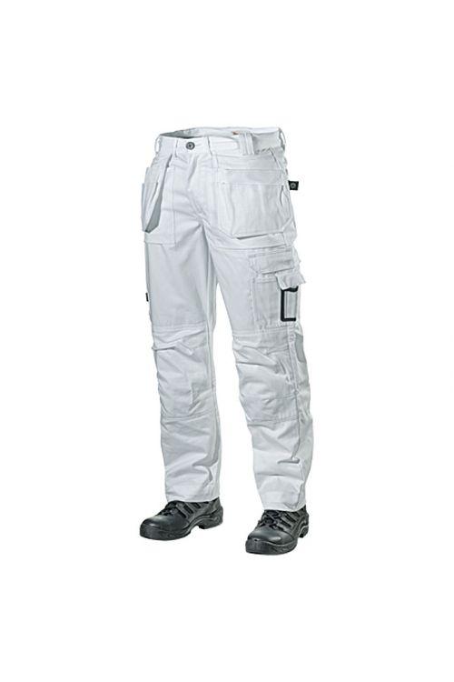 Delovne hlače L.Brador 103B (bele, velikost: 52, 100 % bombaž)
