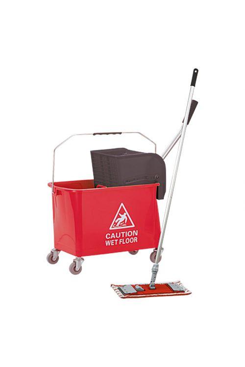 Profesionalni komplet za čiščenje tal Profi Depot (15 l, rdeč)