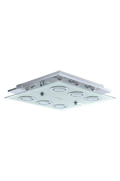 Stropna svetilka Eglo Cabo (6 svetila, kvadratne oblike, maks. moč: 15 W, LED, razred energetske učinkovitosti: A+)