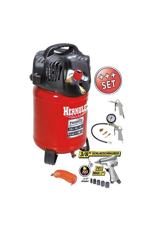 Komplet kompresorja Herkules Twenty + Kit (1,1 kW/1,5 KM, 10 barov, 3.400)