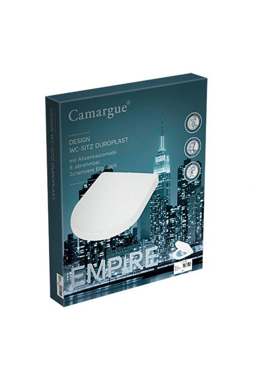 WC deska Camargue Empire (duroplast, počasno spuščanje, bela)