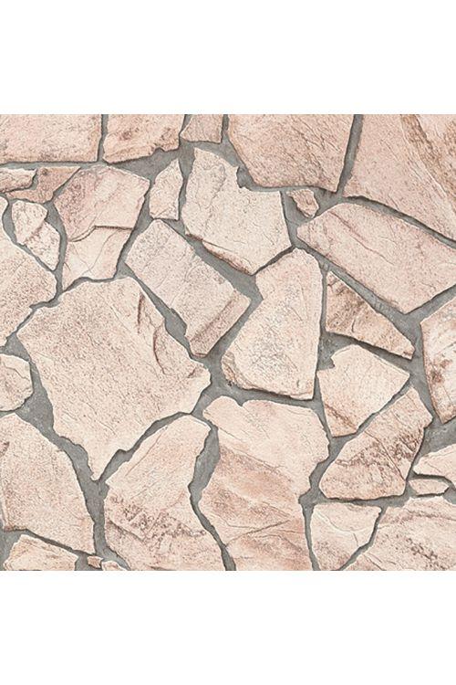 Tapeta iz netkane tekstilije Wood-n-Stone (bež/rjava/siva, lomljen kamen, 10,05 x 0,53 m)