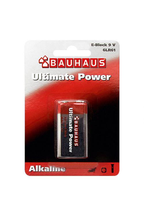 Alkalna baterija BAUHAUS Ultimate Power (E Block, alkalno-manganova, 9 V, 1 kos)