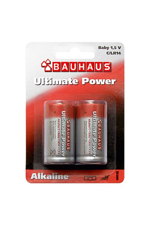 Alkalna baterija BAUHAUS Ultimate Power (Baby C, alkalno-manganova, 1,5 V, 2 kosa)