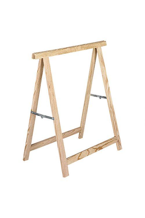 Leseno zložljivo stojalo Standard (nosilnost: 400 kg z 2 lesenima stojaloma, višina: 74 cm, bor)