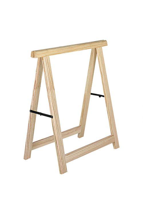 Leseno zložljivo stojalo Professionell (nosilnost: 600 kg z 2 lesenima stojaloma, višina: 75,5 cm, bor)