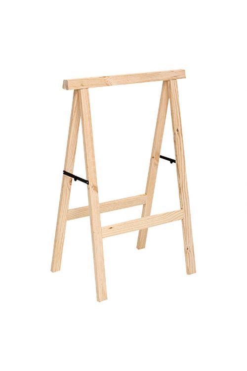 Leseno zložljivo stojalo (nosilnost: 600 kg z 2 lesenima stojaloma, višina: 100 cm, bor)