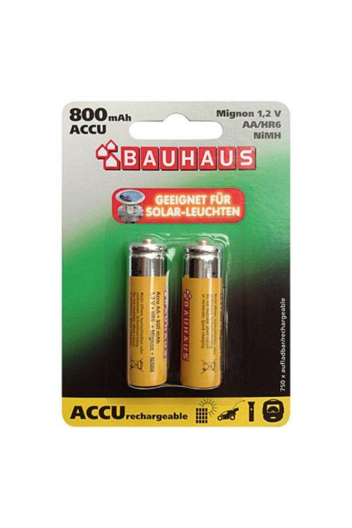 Polnilne baterije BAUHAUS (Mignon AA, NiMH, 800 mAh, 1,2 V, 2 kosa)