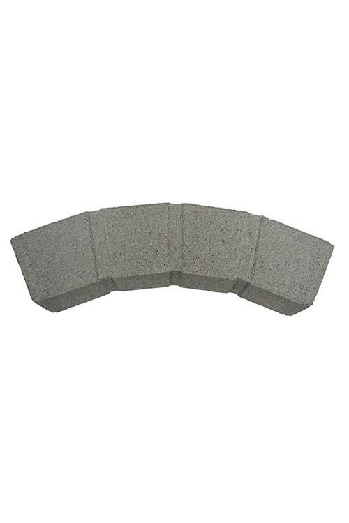 Večnamenski robnik (siva, ukrivljen, 50 x 11,5 x 8 cm)