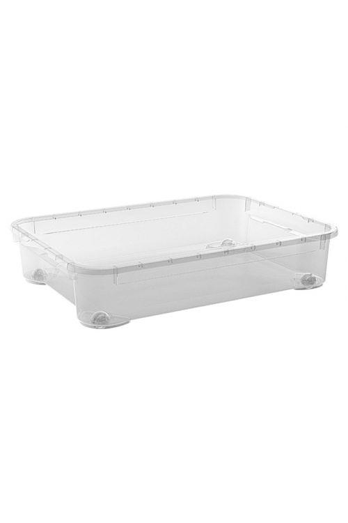 Prozorna podposteljna škatla Regalux Clear XXM (52l, 79 x 58 x 17,5 cm, s kolesci)