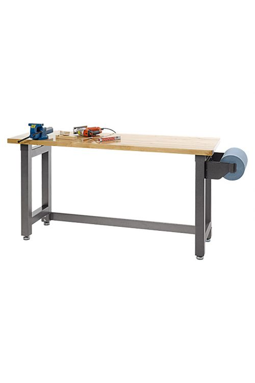Delovna miza z leseno delovno ploščo Wisent (182,5 x 63 x 96 cm, nosilnost: 450 kg)