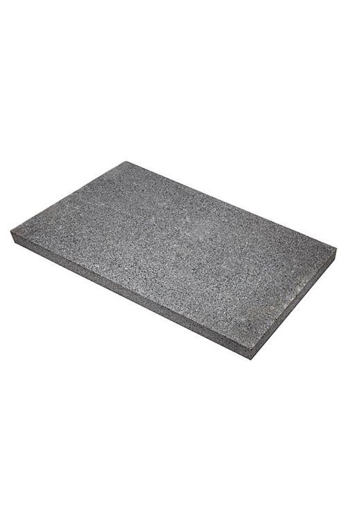 Plošča za teraso G 654 (antracitna, granit, obdelava z vodnim curkom, 40 cm x 60 cm x 3 cm)