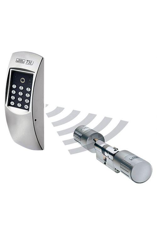 Komplet elektronskih ključavnic Burg Wächter TSE Home 4001 (debelina vrat: do 120 mm, dolžina pri cilindričnem vložku: 60/60 mm, mat krom, uporaba: brezžična)