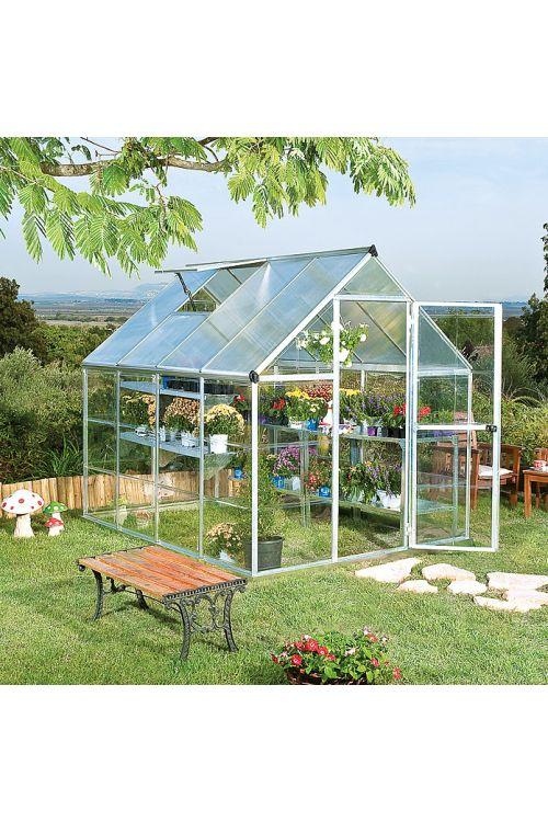 Rastlinjak Hybrid (polikarbonat, površina: 4,6 m²)