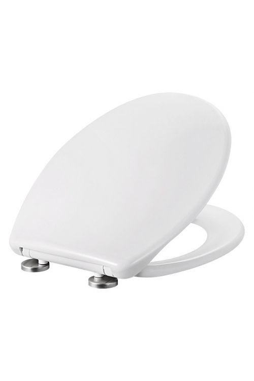 WC deska POSEIDON Pera (duroplast, počasno spuščanje, snemljiva, bela)