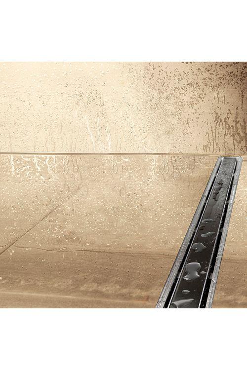 Tuš kanaleta Camargue 70 cm črna (umetna masa, rešetka iz kaljenega varnostnega stekla, 70 cm, črna)