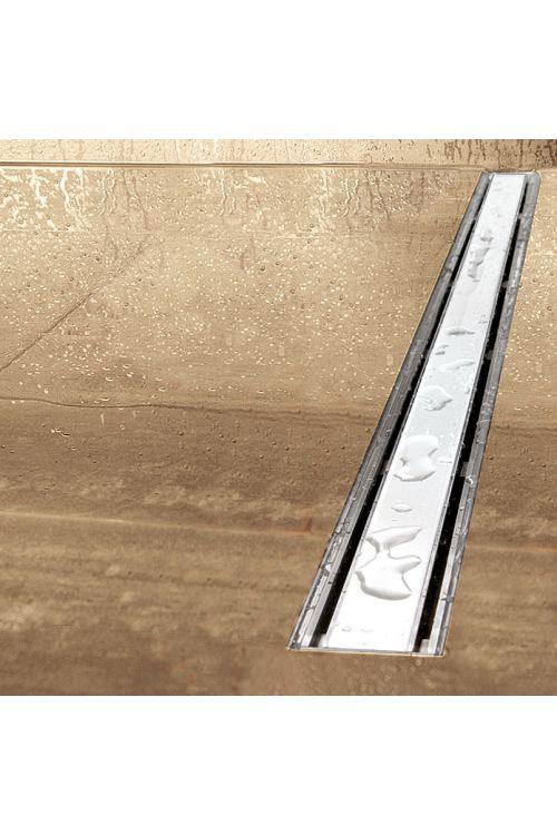 Tuš kanaleta Camargue 70 cm bela (umetna masa, rešetka iz kaljenega varnostnega stekla, 70 cm, bela)