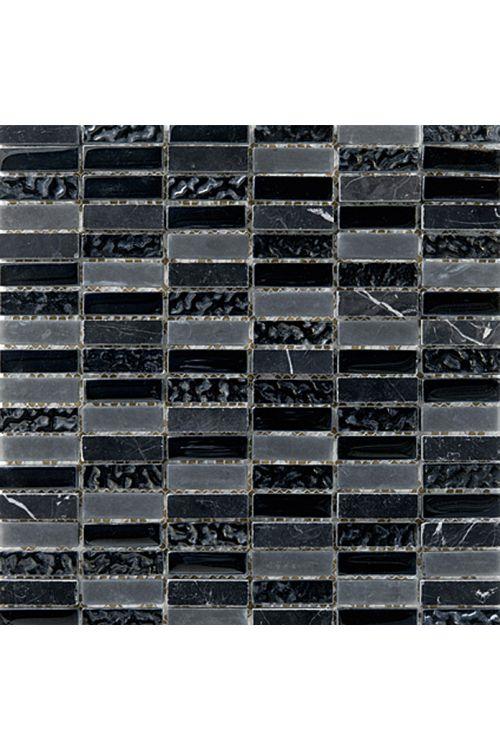 Stenski mozaik Palazzo Natura (30 x 30 cm, črn, sijaj)