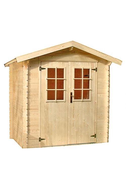 Vrtna hiška Mikka (les, površina: 3,6 m², debelina stene: 19 mm, dvokapna streha)