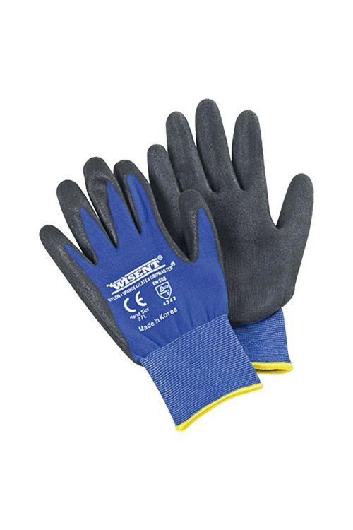 Delovne rokavice Wisent Construction (velikost: 9, črno-modre)