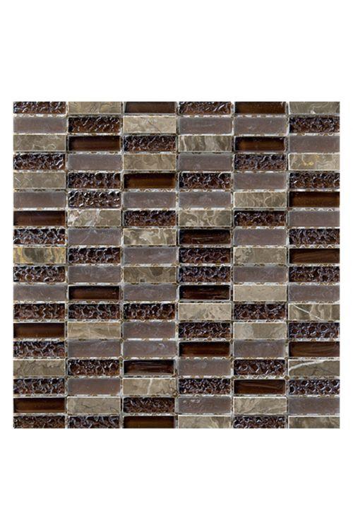 Stenski mozaik, Palazzo Natura (30 x 30 cm, rjava, sijaj)