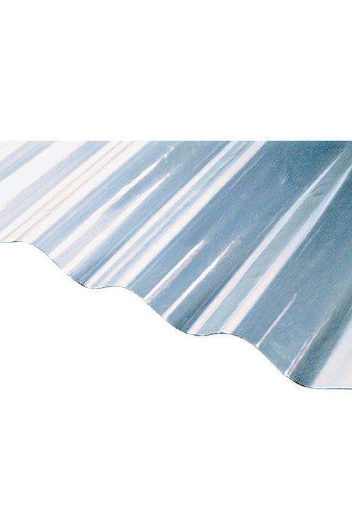 Valovita plošča (prosojna, okrogla, 2000 x 800 x 0,8 mm, 32/9 mm)