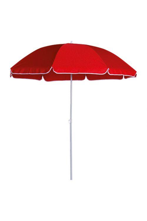Balkonski senčnik SUNFUN Provence (Ø 250 cm, kovinsko ogrodje, poliester, rdeče barve)