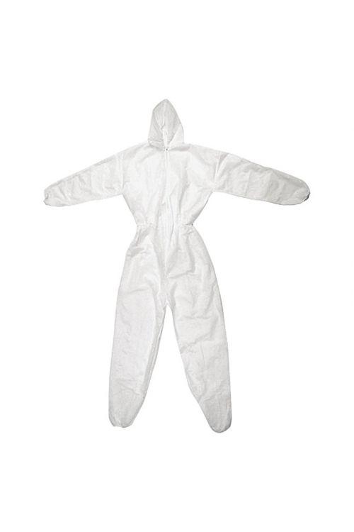 Zaščitni kombinezon s kapuco za enkratno uporabo (XL, flis, trpežen)