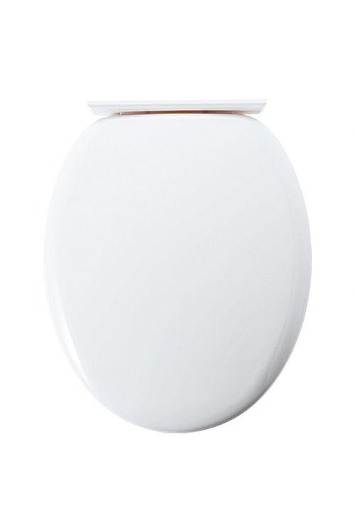 WC deska Miami (plastična, počasno spuščanje, bela)