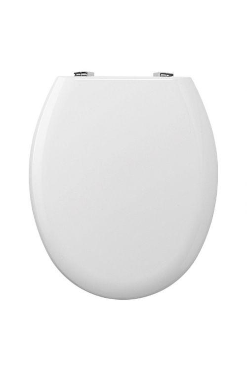 WC deska POSEIDON Rio (lesena, počasno spuščanje, bela)
