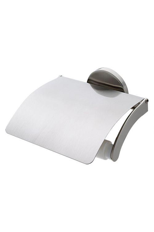 Nosilec toaletnega papirja Alosa, Venus (mat, s pokrovom, pritrditev z zidnimi vložki, kromiran)