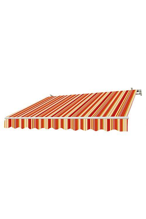 Markiza Sunfun Multicolor (3 x 2 m, rumeno-rdeča, stenska ali stropna montaža)