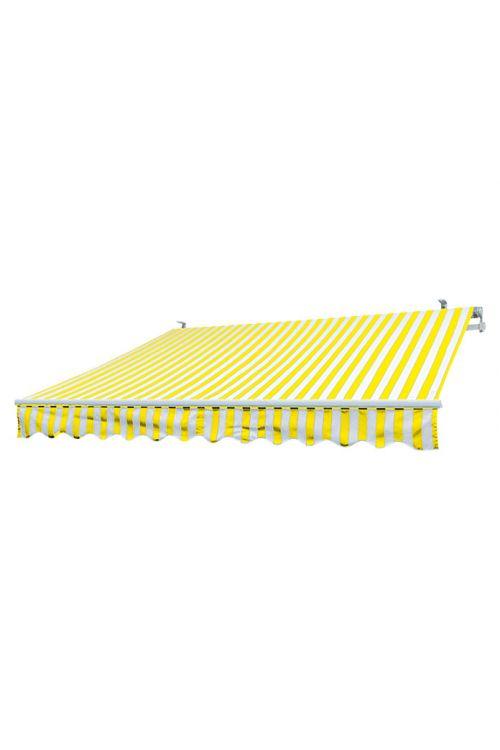 Markiza Sunfun (3 x 2 m, rumeno-bela, stenska ali stropna montaža)